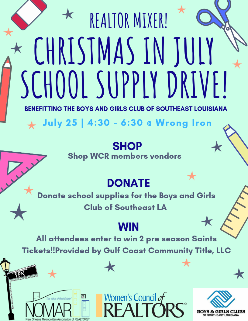 NEWSchool Supply Drive