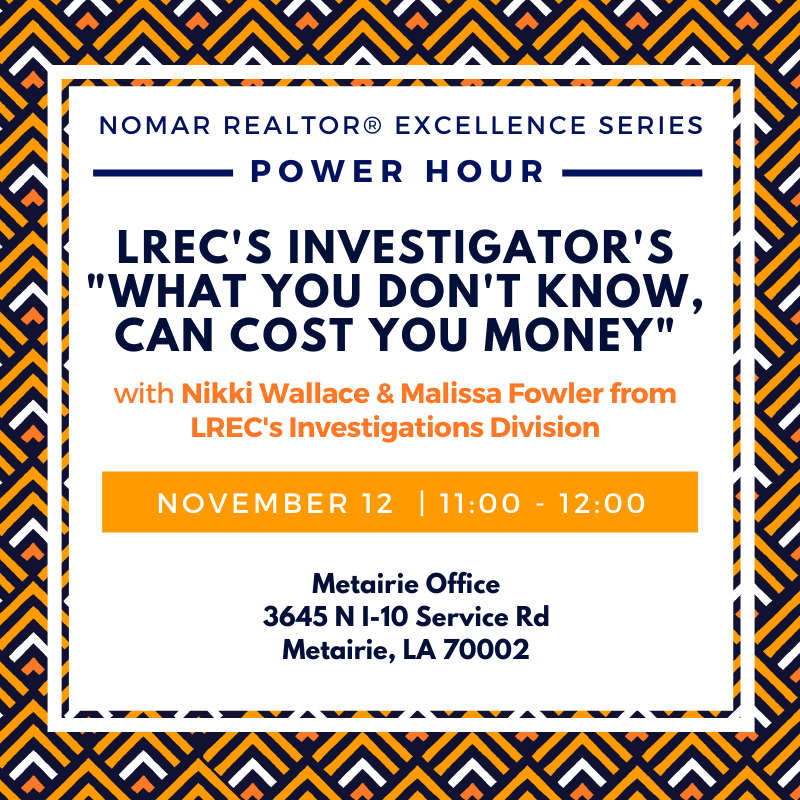 Nov 12Metairie Power Hour