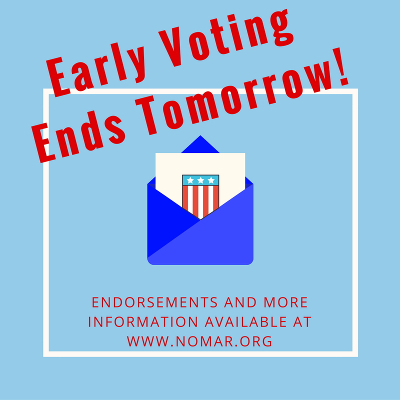 Early Voting Ends Tomorrow