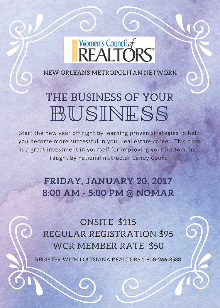 WCR - The Business of Your Business small